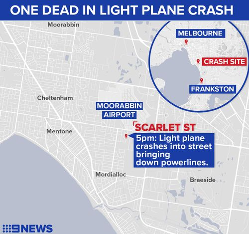The crash unfolded just after 5pm yesterday. (9NEWS)
