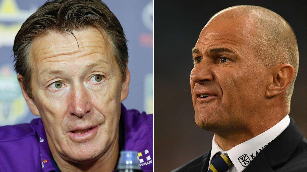 Melbourne Storm coach Craig Bellamy hits back at Parramatta Eels coach Brad Arthur over wrestling tactics