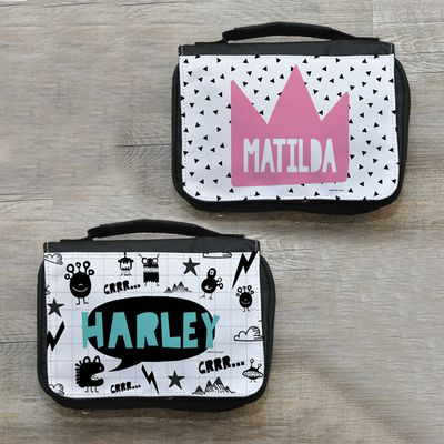 "<a href=""http://www.spatz.com.au/shop/stuff-for-kids/personalised-bags/personalised-kids-toiletry-travel-bags/?gclid=EAIaIQobChMIzsC-ytaZ1QIVFgoqCh2yUQDvEAQYBSABEgIKJ_D_BwE"" target=""_blank"">Spatz Kids Personalised Toiletry Travel Bags, $22.95.</a>"