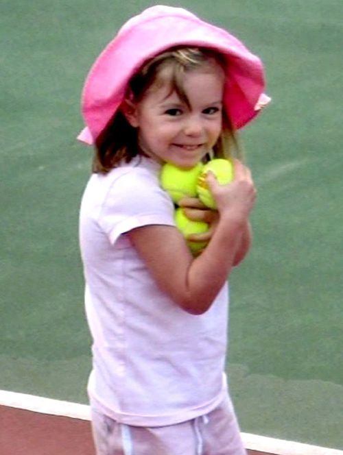 Missing British girl Madeleine McCann, who vanished on May 3, 2007 while on holiday with her family in the Algarve, south Portugal.
