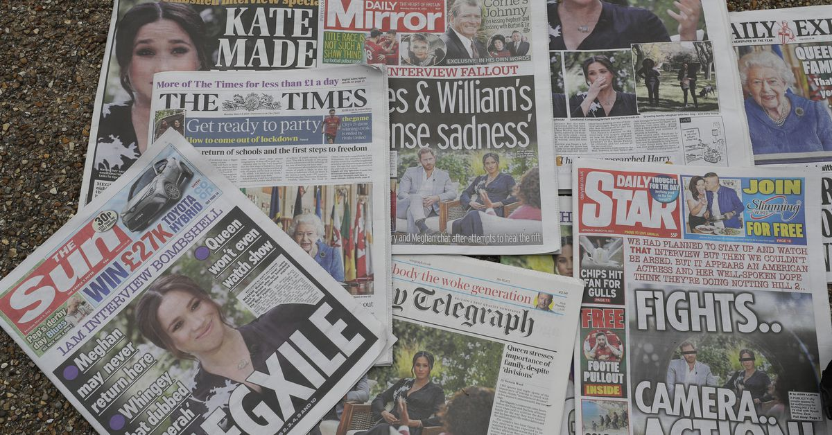 How UK tabloids reacted to Harry Meghan interview – 9News