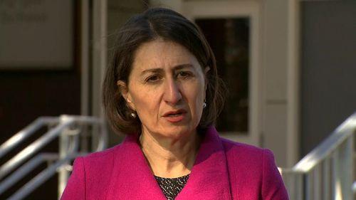 NSW Premier Gladys Berejiklian today.