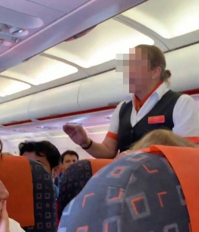 EasyJet flight attendant confrontation with passenger