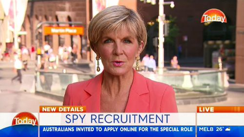 Foreign Minister Julie Bishop spoke about the test on The TODAY Show.