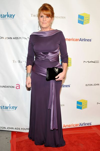 Sarah Ferguson, Duchess of York attends the 10th Annual Elton John AIDS Foundation's benefit, October 26, 2011, New York