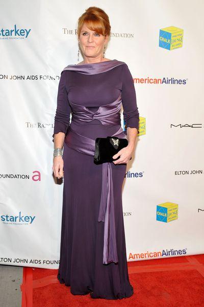 Sarah Ferguson, Duchess of York attends the 10th Annual Elton John AIDS Foundation's benefit, October 26, 2011, New York