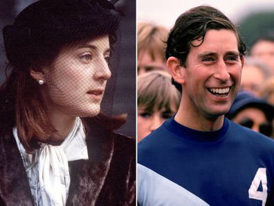 Amanda Knatchbull and Prince Charles pictured in 1979.