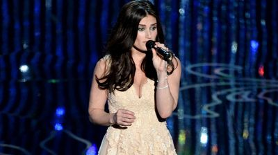 Actress/singer Idina Menzel performs 'Let It Go' from the motion picture Frozen which won Best Original Song.