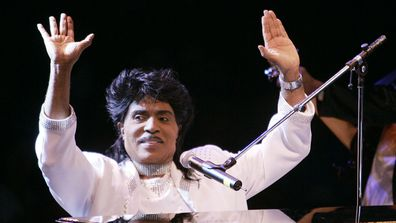 In this Aug. 19, 2004 file photo, Little Richard performs at Westbury Music Fair in Westbury, NY