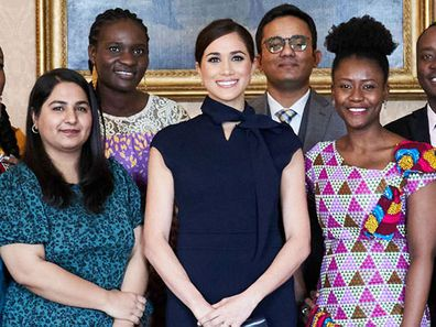 Meghan Markle meets with Commonwealth scholars