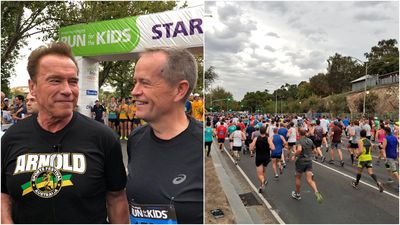 Schwarzenegger, Shorten join thousands for a good cause