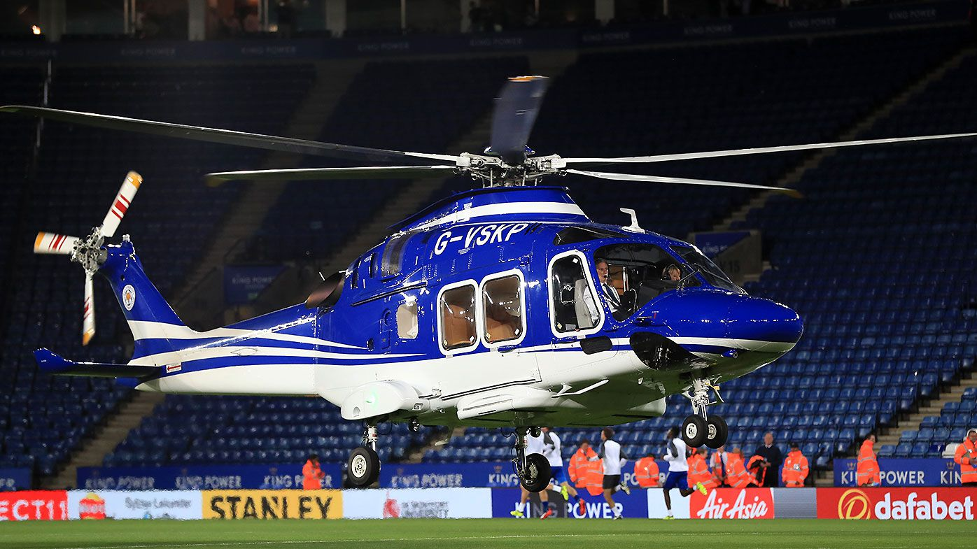 Leicester owner 'on crashed helicopter'