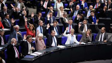 German parliament legalises same-sex marriage. (AAP)