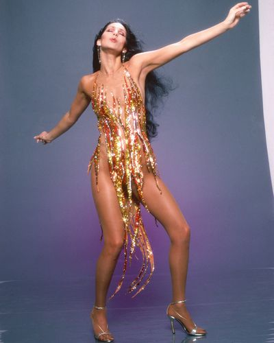 Cher at a photo shoot in Los Angeles, April, 1978