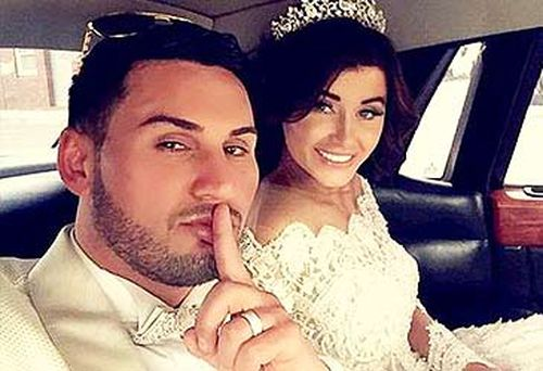 Salim Mehajer and Aysha Learmonth on their wedding day.