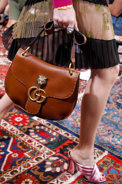 Lion and tiger heads adorned the new wave of It-bags and jewels from Gucci.