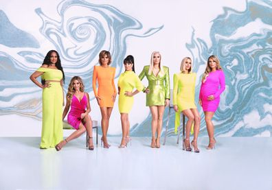 Real Housewives of Beverly Hills, Season 10, Garcelle Beauvais, Denise Richards, Lisa Rinna, Kyle Richards, Erika Jayne, Dorit Kemsley and Teddi Mellencamp.