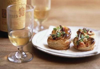 Mini bacon and cheese pastries