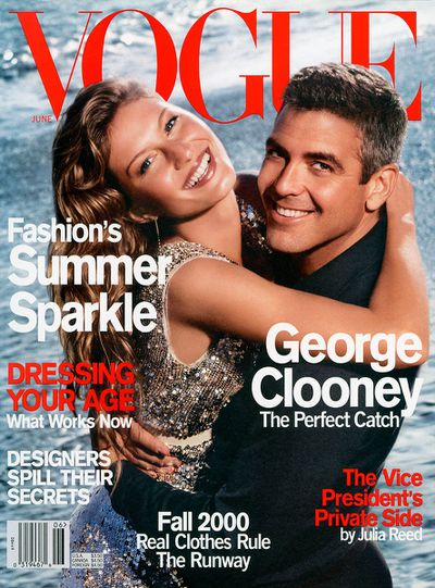 Gisele and George Clooney on the cover of US Vogue, June 200 by Herb Ritts