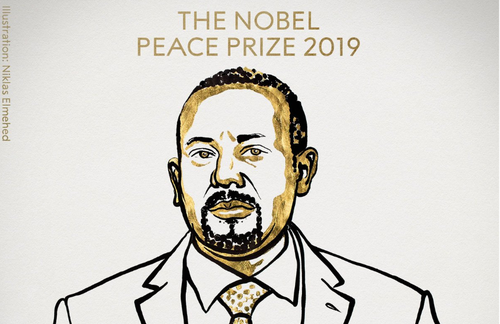 Abiy Ahmed announced 2019 Nobel Peace Prize winner