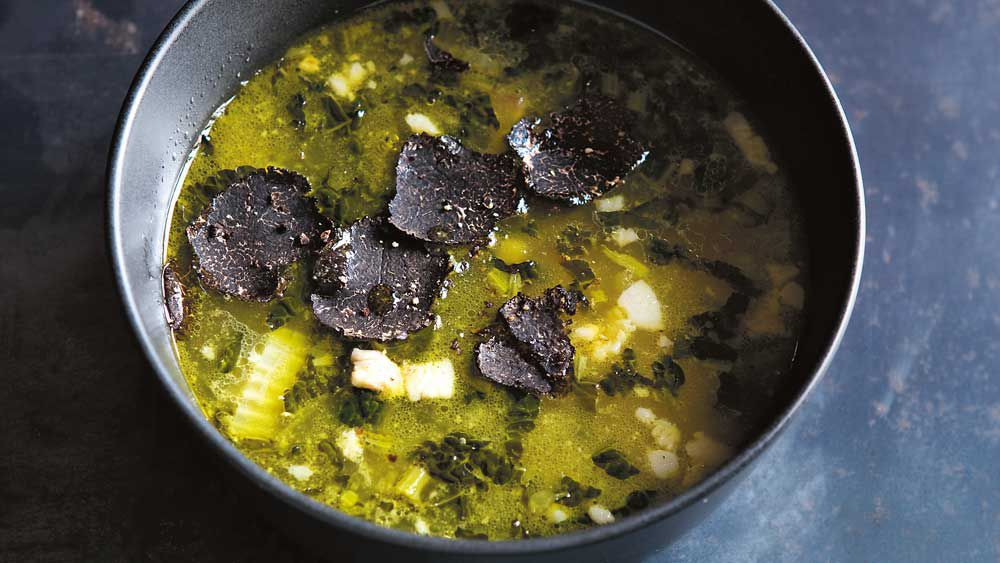 The Agrarian Kitchen's truffle and vegetable potage