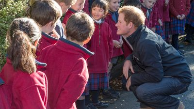 Children in both Australia and New Zealand have delighted in meeting the royal. (AAP)