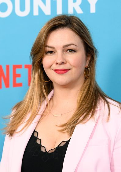 "Amber Tamblyn attends the ""Wine Country"" World Premiere at Paris Theatre on May 08, 2019 in New York City."