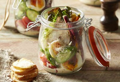 "Recipe: <a href=""http://kitchen.nine.com.au/2016/05/20/10/06/chicken-caesar-salad-jars"" target=""_top"">Chicken Caesar salad jars</a>"