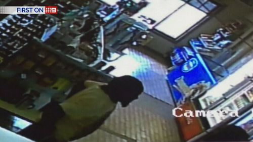 Ms Woodford's killer, Dudley Davey, in the hours after her death was captured on CCTV at a service station. (9NEWS)