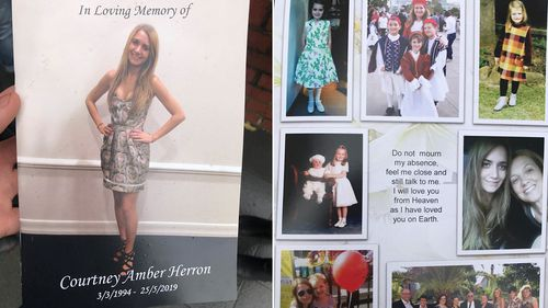 A booklet given to mourners at the funeral.