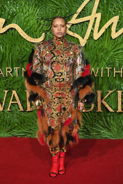 Erykah Badu in Gucci at the Fashion Awards, London.