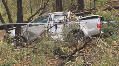 The car found dumped in Benalla, Victoria. (9NEWS)