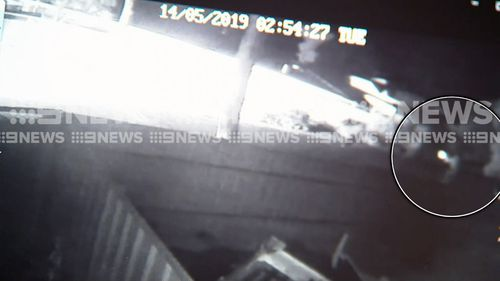 Dramatic footage has emerged of the moment police shot at an Ingle Farm man when he allegedly confronted them with a knife.