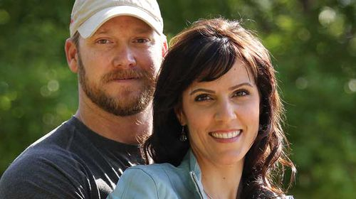 Former Navy SEAL Chris Kyle, pictured with wife Taya, was America's most deadly sniper and helped returned veterans to readjust to life at home. (Getty)