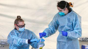 Coronavirus testing in Melbourne.