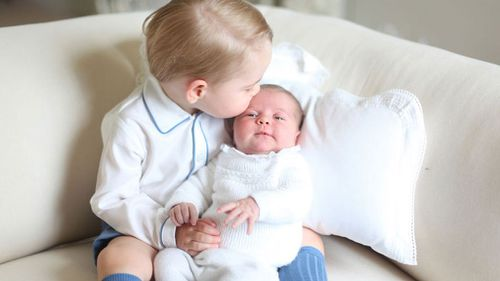 When Princess Charlotte was born, Kensington Palace released a cute photo of Prince George with his sister. (AAP)