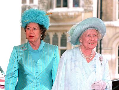 The Queen Mother and Princess Margaret attend a luncheon at Guildhall in 2000 in London. The Queen Mother died in 2002 aged 101.