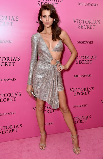 Georgia Fowler in Julien Macdonald at the 2017 Victoria's Secret Fashion Show After Party