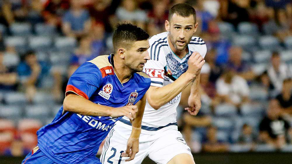 The Newcastle Jets couldn't find the killer goal against the Victory. (AAP)