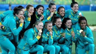 The Australia Women's Rugby Sevens team made their way from Sevens rookies all the way to being Olympic gold medallists with victory over New Zealand. (AAP)