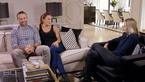 Steve 'Commando' Willis and Michelle Bridges talk to Allison Langdon. (60 Minutes)