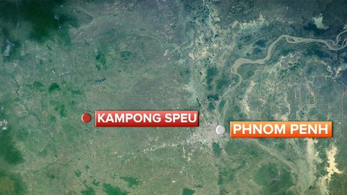 Kampong Speu is located west of Phnom Penh. (Supplied)