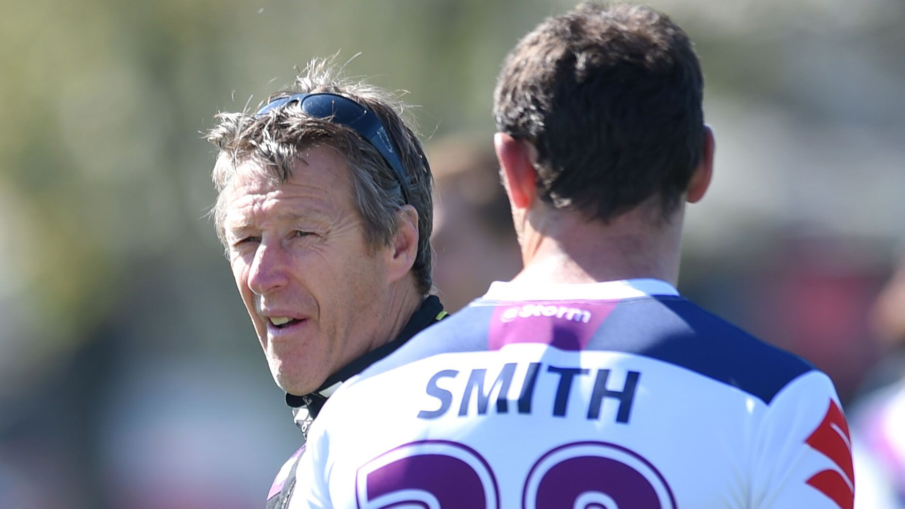 Craig Bellamy and Cameron Smith