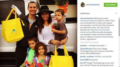 Matthew McConaughey, Camilla Alves and family...