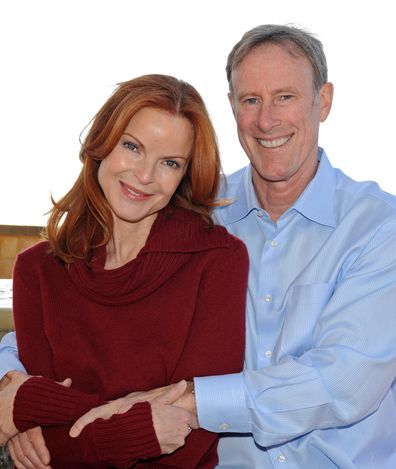 Marcia Cross and husband Tom Mahoney ring in the new year at Pelican Hill Resort on December 31, 2010 in Newport Beach, California.