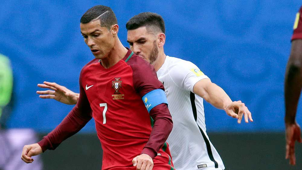 Cristiano Ronaldo was spot on from the penalty mark against New Zealand. (AAP)