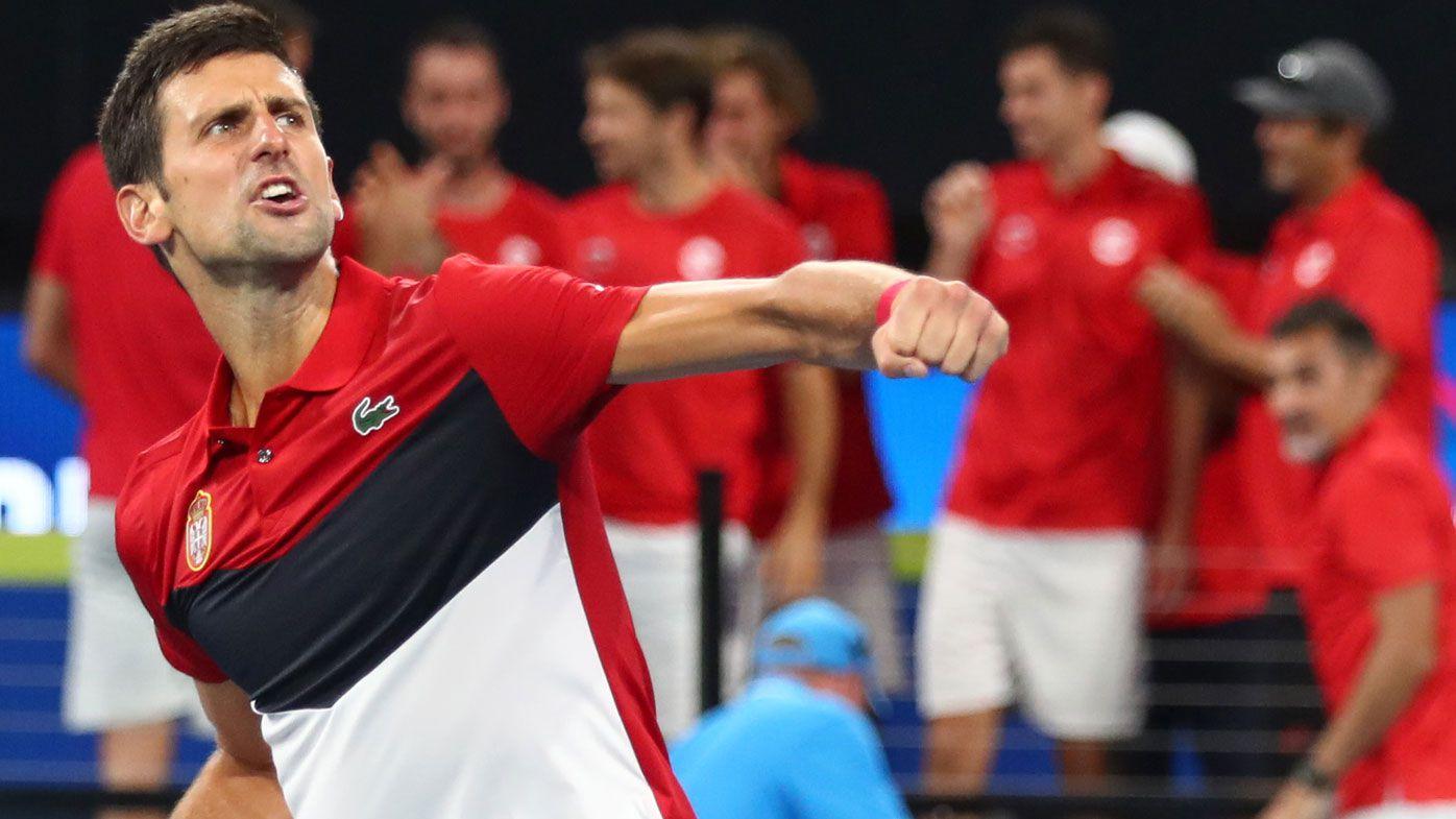 Atp Cup Novak Djokovic Apology Fan Blow Up Screaming Gestures