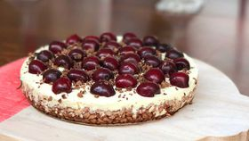 Dr. Joanna McMillan's no bake dark choc cherry cheesecake