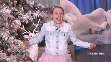 Newcastle girl Sabre Norris has Ellen DeGeneres in stitches