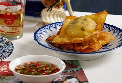 "Recipe: <a href=""/recipes/iscallop/8348244/wok-this-way-fried-scallop-wontons"" target=""_top"">Fried scallop wontons</a>"
